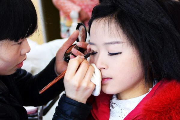 Make Up Artist zur Heirat in Hong Kong